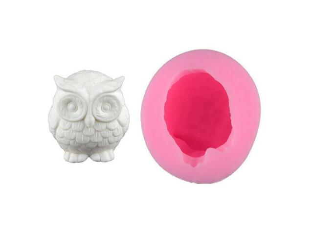 3D Owl Bird Candle Molds Soap Mold DIY Craft Food