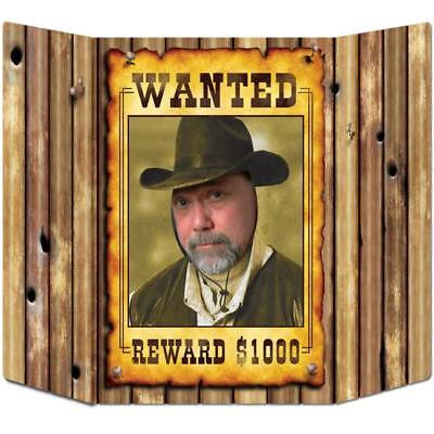 Western Wanted Poster Photo Prop Cowboy Cowgirl Wild West Party Decoration - Halloween Wanted Poster
