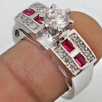 w/ RUBY ACCENTS 925 HALLMARKED RING Sz8