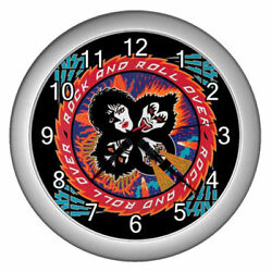 New Wall Clock Kiss Rock and Roll Over Wall Clock Rare Design! #SILVER