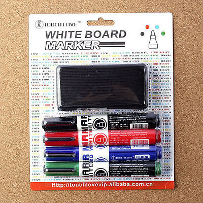4PCS Whiteboard Marker Pens White Board Dry Erase 4 Colors are