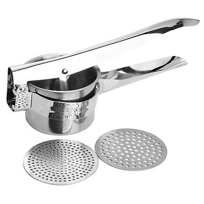 Good Grips Stainless Steel Potato Ricer Puree Press Masher Maker With 2 Blade