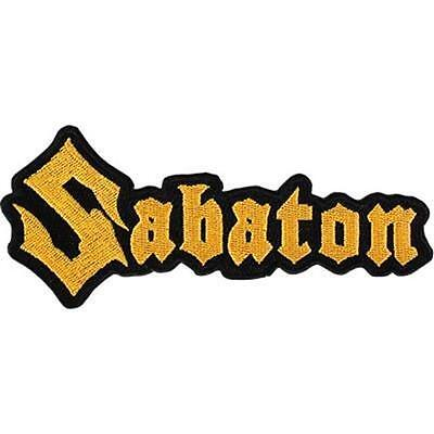 OFFICIAL LICENSED - SABATON - LOGO CUT OUT SEW ON PATCH POWER METAL