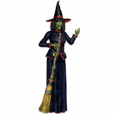 Jointed 6 Foot Witch Paper Halloween Party Decorations Supplies