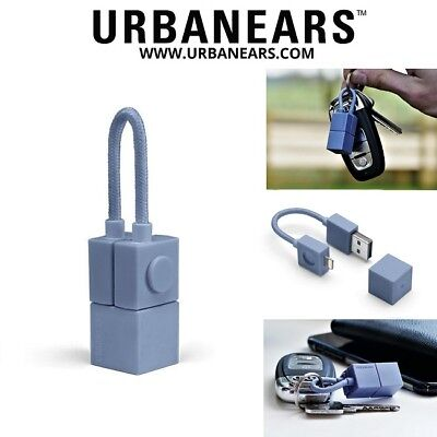 Urbanears Lightning to USB Charger Cable Keyring iPhone X 8 7 6 6S 5 Plus iPad