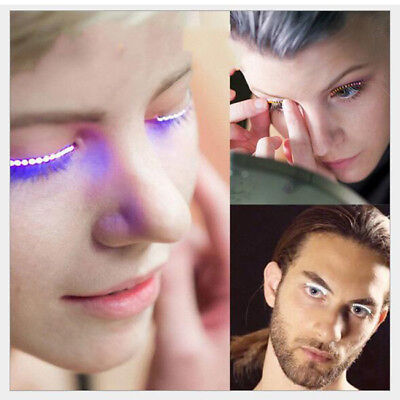 US! Halloween Party Pub Bar LED Eye Lashes Makeup Light Cosplay Props EyelidGift