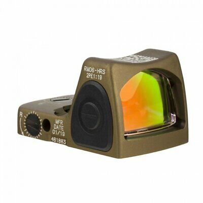 Trijicon RM06 Type 2 Adj LED Red Dot Coyote Brown 3.25 MOA International Welcome