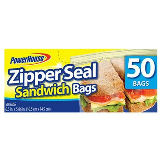 Personal Care 92791-9 Zip Sandwich Bag 50 Count Pack of 24