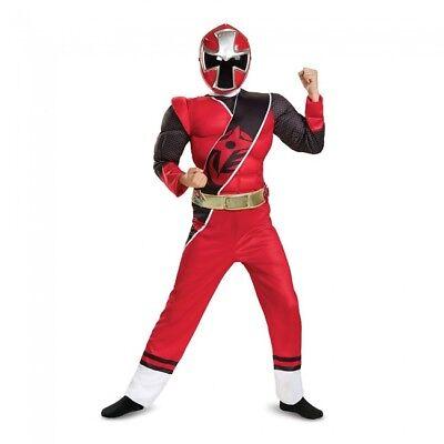 Disguise Power Ranger Ninja Steel Red Ranger Child Boys Halloween Costume 51883 - Red Ninja Costume