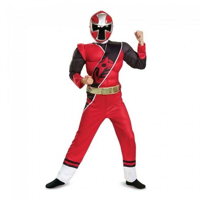 Disguise Power Ranger Ninja Steel Red Ranger Child Boys Halloween Costume 51883