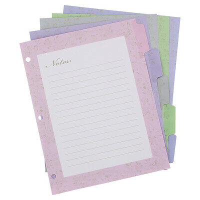 Wilson Jones Pink Ribbon Decorative Tab Dividers 8.5 X 11 Assorted 5pack