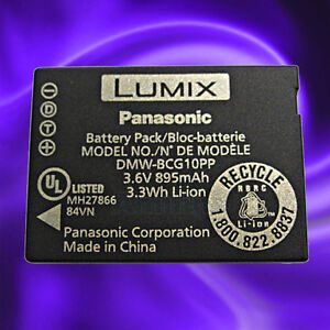 Genuine DMW-BCG10E Battery Panasonic Lumix DMC-ZR3 DMC-ZS7 ZS6 ZS1 DMW-BCG10PP