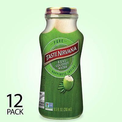 Taste Nirvana All Natural Real Coconut Water  | 12 x 9.5oz Bottles
