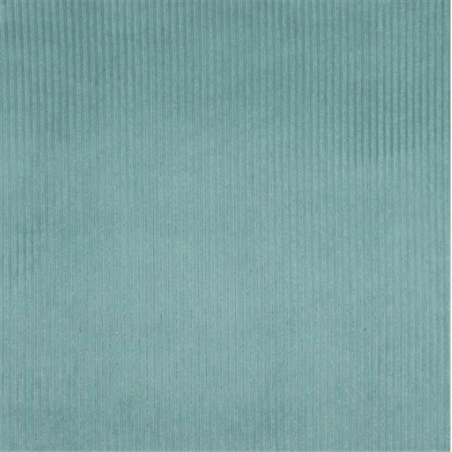 Designer Fabrics E383 54 in. Wide Teal Corduroy Striped Velvet Upholstery Fabric