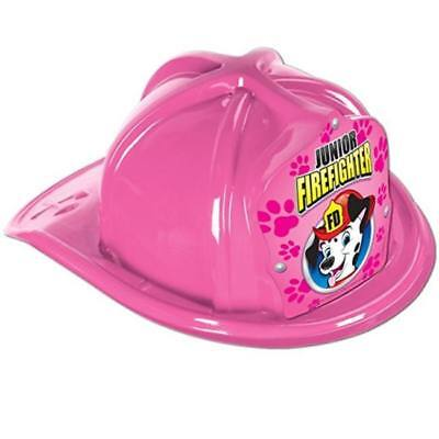 Jr Firefighter Plastic Hat Pink Child Size Firefighter Birthday Party Favors](Firefighter Party Hats)