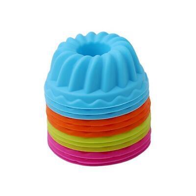 12pc Spiral Silicone Bundt Swirl Ring Cake Baking Tin Mold Mould Pan Bakeware BL