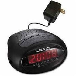 Craig CR45329B Dual Digital Alarm Clock With Pll AM & FM Radio - Black