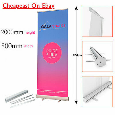 Roller Banner Pop/Roll/Pull up Exhibition Display Stand Artwork &
