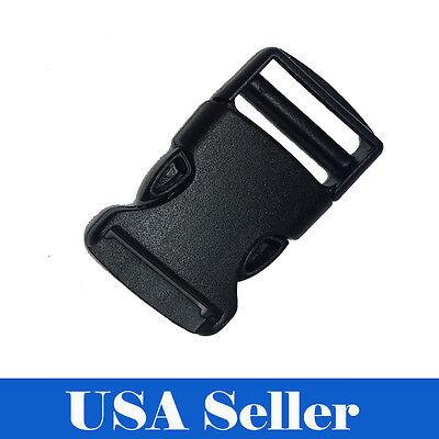 10X 1 Inch Plastic Black Strap Webbing Side Release Buckle Clasp Craft 2.5 CM