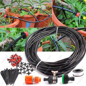 Tropschlauch MikroBewässerungssystem Pflanzen-Tropf-Bewässerung 25m 95 tlg.
