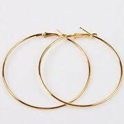 60mm Gold Hoop Earrings