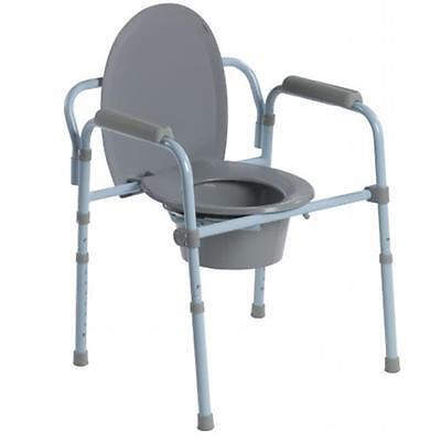 Steel Folding Frame Commode By Drive Medical - rtl11158kdr