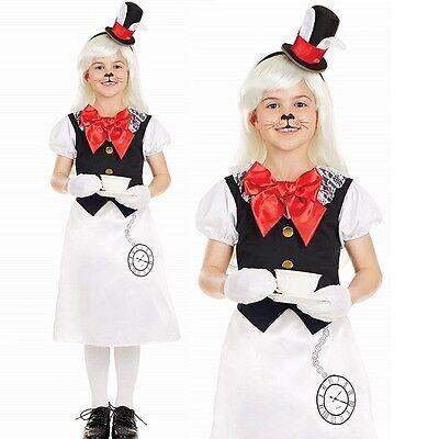 Mädchen Miss Weißen Kaninchen Maskenkostüm Alice Märchen Büchertag - Alice Kaninchen Kostüm