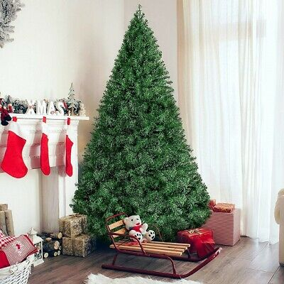 6 Foot Christmas Tree Artificial Hinged Pine Holiday July Home Decor Free Ship