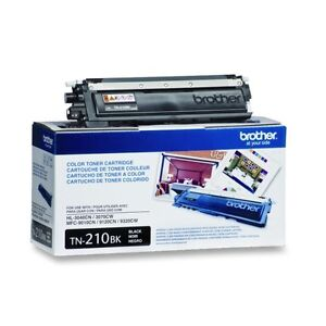 Brother TN-210BK Black OEM Toner Cartridge - Retail Packaging