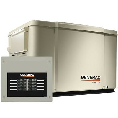 Generac 6998 Powerpact Series 7.5kw Generator Steel Enclosure 8 Circuit Switch
