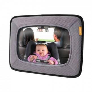 Brica rear view mirror, baby, car, reflection, reflector