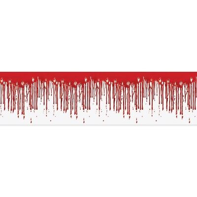 Dripping Blood Fridge Border Slaughter House Halloween Party Decorations - Halloween Party Borders