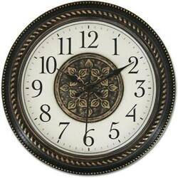 Ashton Sutton WAC858 Quartz Analog Wall Clock Antique Bronze Plastic Case