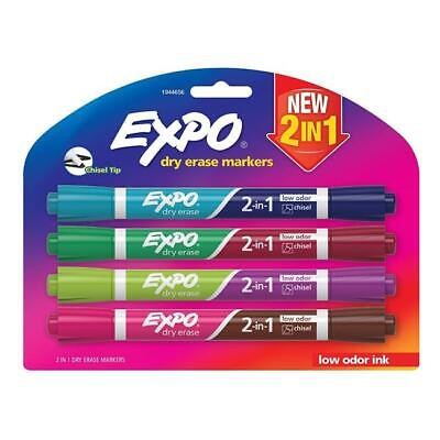 Sanford Ink 1944656 2-in-1 Dry Erase Markers 8 Assorted Colors - Medium Point...