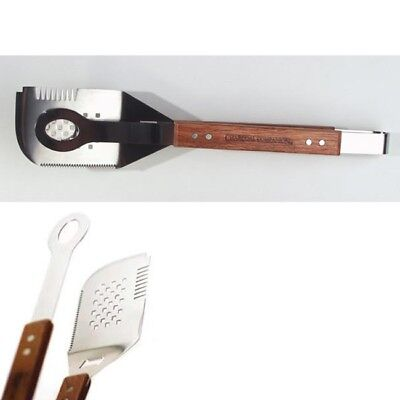 Charcoal Companion 5-in-1 All Purpose Grilling Spatula/Tongs 17.25-inch , New