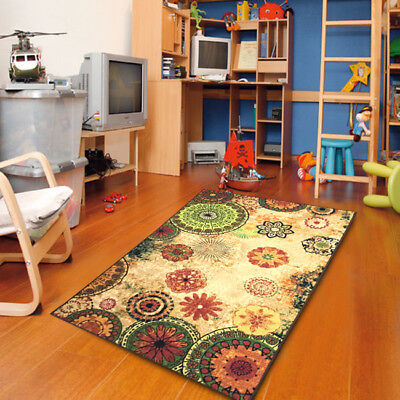 Contemporary Floral Bright Color Rubber Non-Skid Area Rug - 770 Floral Contemporary Rug