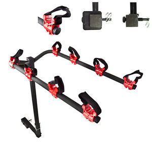 Four-Bikes-Rack-for-4-Bicycle-Hitch-Mount-Carrier-Car-Truck-Auto-Folds-Down-New
