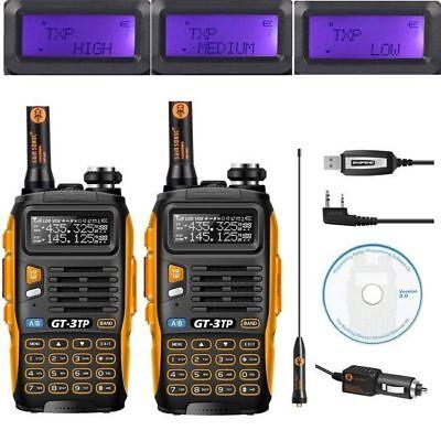 2×Baofeng GT-3 TP Mark III ★8W★ Radio + Kabel + CD Walkie Talkies Hand-Funkgerät