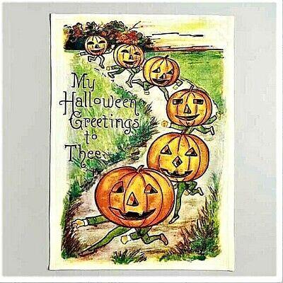 World Market Exclusive Vintage Halloween Jack-O-Lantern Kitchen Towel