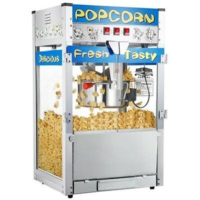 Popcorn Popper Machine Commercial Maker 12 Oz Industrial Movie Countertop