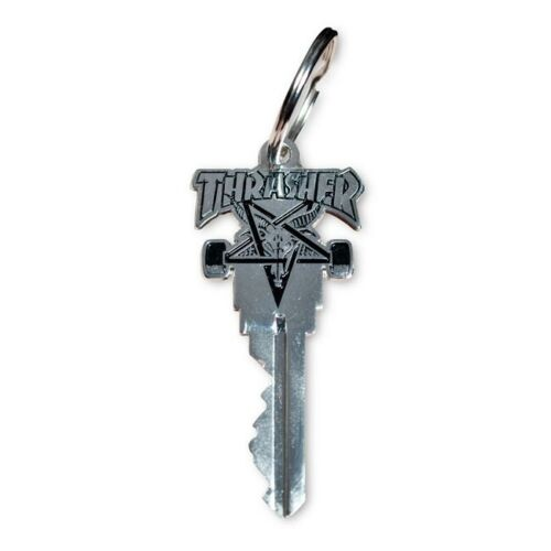 Thrasher Magazine Skategoat Kwikset Customizable Silver Key