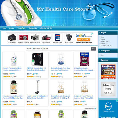 Health Care Store Earn Good Affiliate Income Online Business Website For Sale