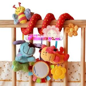 Hotsale Baby Kid Spiral/Twisty/Curly Pram Bar/Car Seat/Cot Activity Dangle Toy S