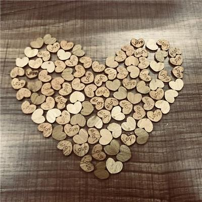 100pcs Wooden Love Hearts Shape Wood Slices Craft Gift Wedding Decoration Red3 - Wooden Hearts Crafts