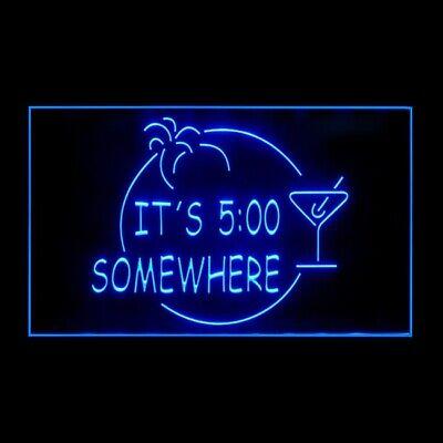 170005 ITS 5:00 Somewhere Margarita Chilled Glasses Display LED Light Sign (Led Margarita Glasses)
