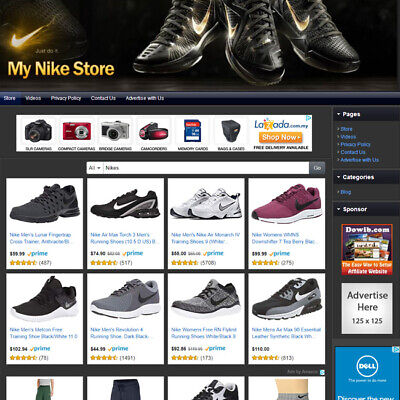 Nike Shoes Apparel Store - Established Online Affiliate Business Website Sale