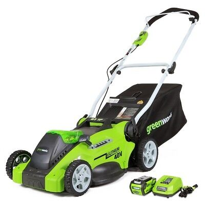 Electric Cordless Lawn Mower Battery Powered Operated Best 40V Mowers