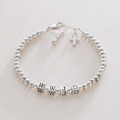 Wass Würde Jesus Machen Armband, Sterlingsilber, Wwjd Armband UK Verkäufer
