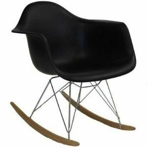 MidCentury Eames Style Modern Rocker and Bucket Chair