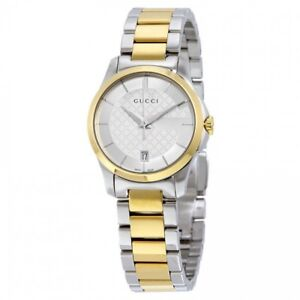 Gucci G-Timeless Two Tone Stainless Steel Swiss Quartz Ladies' W
